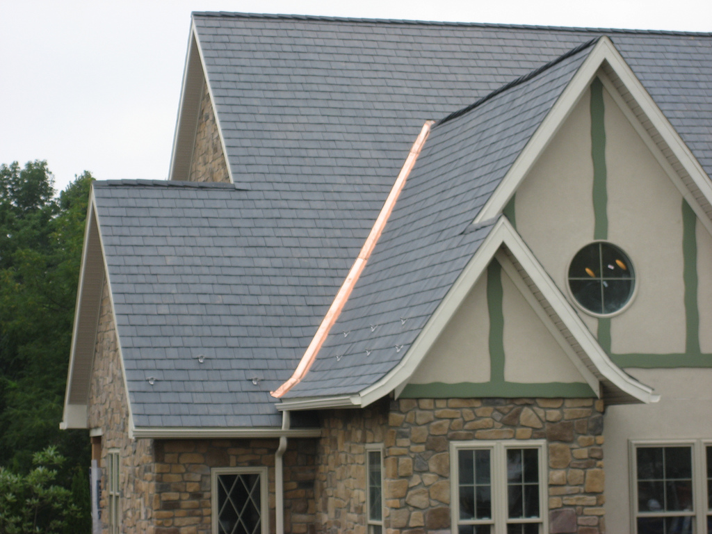 Specialty Design Aluminum Rain Gutter And Copper Flashing On The Extreme  Makeover: Home Edition House In Hamburg, PA