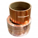 copper coil for rain gutter